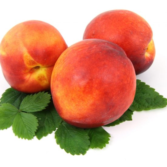 peaches on white packground